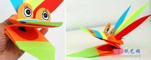 怎么折有趣的折纸玩具 简单又好玩的动物指套玩具折纸