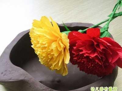 手工制作母亲节礼物 儿童母亲节礼物康乃馨花朵手工制作教程步骤图