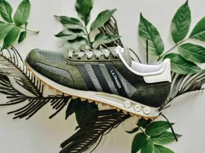 森系复古鞋 adidas LA Trainer全新配色��Green��