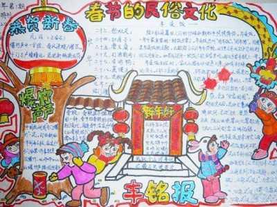 小学生马年春节小报 小学生新年手抄报图片