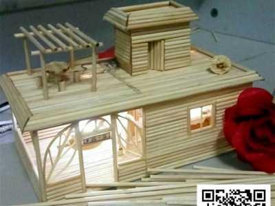 小制作过程 竹签diy小房子制作过程