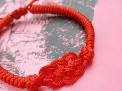 复古手链制作 复古风红绳手链编织教程