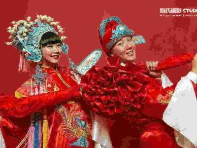 新娘齐刘海发型图片 中式古装凤冠霞帔婚服图片欣赏