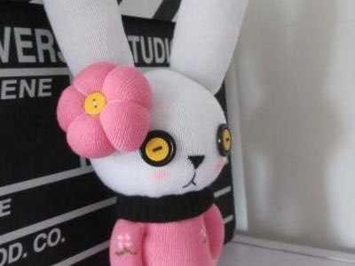 袜子娃娃制作 可爱布艺兔子制作
