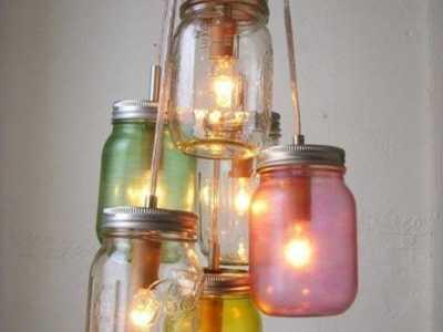罐头瓶diy 利用玻璃罐头瓶子废物利用手工制作个性漂亮的灯饰