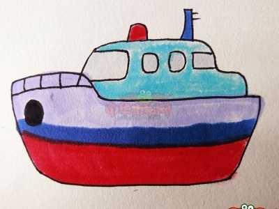轮船图片 轮船简笔画图片带颜色