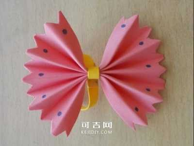 蝴蝶结折纸 最简单折纸漂亮蝴蝶结的折法